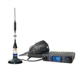 Lafayette Apollo Pro Statie Radio CB + Farun JBA 230 Antena Magnetica