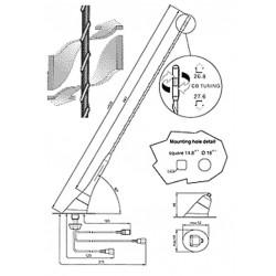 Sirio Triflex 900 Tija Antena