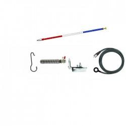 Kit Firestik FG 3 648 Rosu Alb Albastru Antena cu Montura la Oglinda