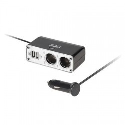 Splitter Bricheta cu 2 Iesiri 2 USB si Cablu Alimentare 12V/24V