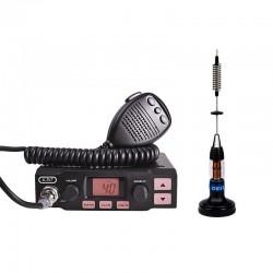 K-PO K-500 Statie Radio CB + CRT Micro 30 Antena Radio Magnetica
