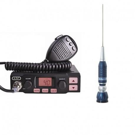 K-PO K-500 Statie Radio CB + Sirio Megawatt 3000 Antena CB Prindere PL