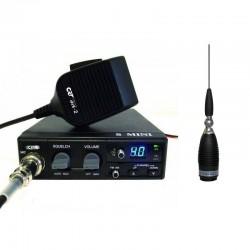 CRT S Mini Statie Radio CB + Millenium MINI 45 Antena CB Prindere Magnetica