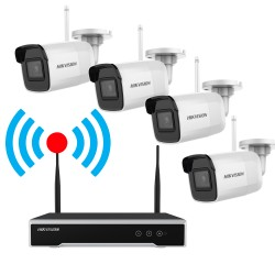 Kit HIKVISION Supraveghere Video Wireless 4B Camere 4MP NVR 4 Canale