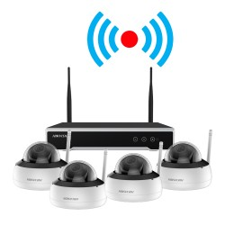 Kit HIKVISION Supraveghere Video Wireless 4D Camere 4MP NVR 4 Canale