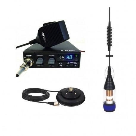 CRT S Mini Statie Radio CB + Premier IC 100 Antena Magnetica