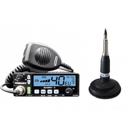President Barry Statie Radio CB + President Virginia Antena Magnetica