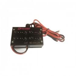 Distribuitor/Splitter Alimentare 4 Iesiri pentru Cablu cu 3 Pini