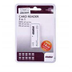 Card Reader USB 3 in 1 MMC / SD / MS 16 Gb
