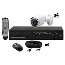 KIT EASY DVR MVS 4 Camere si Telecomanda